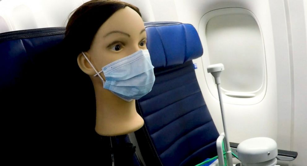 Risk of COVID-19 exposure on planes 'virtually nonexistent' when masked, study shows